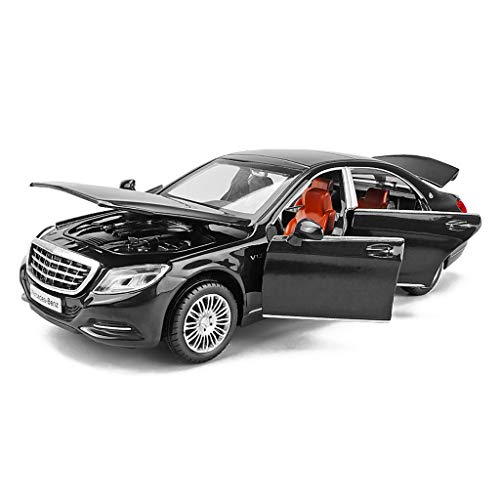 Xuping shop Automodell 1:32 Mercedes Benz Modell Maybach S600 Simulation Legierung Druckguss Spielzeug Ornamente Sportwagen Sammlung Schmuck 14,5x5,5x4,5 cm (Color : Black)