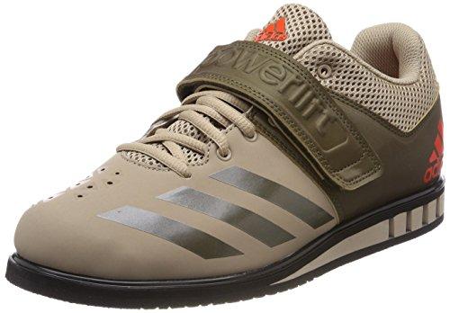 adidas Herren Powerlift.3.1 Hallenschuhe, (Tech Beige/Trace Olive/core Black 0), 42 EU