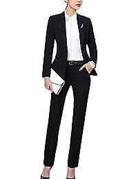 e1f720019f8 SK Studio Femmes Blazer Tailleurs Pantalons De Bureau 2 Pièces Revers  Casual Costume Manteau