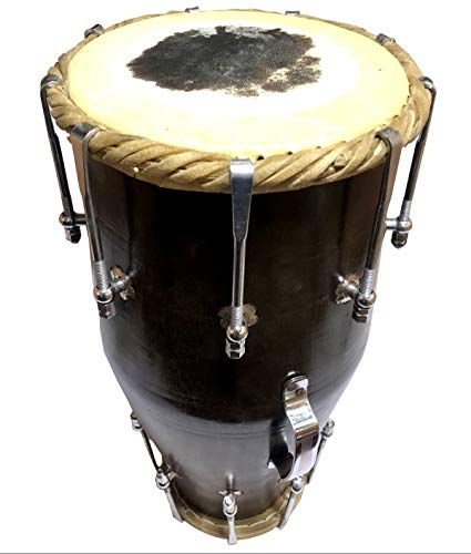 Antiques World Classy Traditional Collectible Handmade Wooden Dholak Indian Folk Musical Instrument Drum Dhool AWUSABC 06