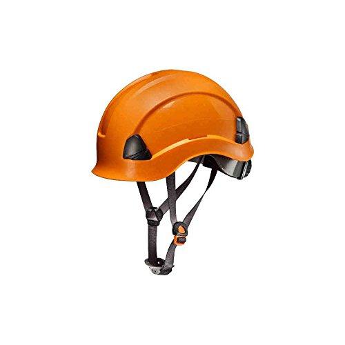 elmetto antinfortunistica elmetto da cantiere casco da lavoro casco da cantiere protezione cantiere ponteggio Everest Arancio in abs con fascia taglia unica regolabile