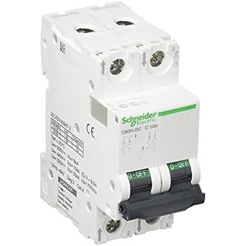 Schneider A9N61512 Mcb Miniature Circuit Breaker C60H-DC 1P 20A White
