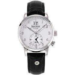 Bruno Söhnle Men's Quartz Watch with Milano GMT Analogue Quartz Leather 17-13043-221