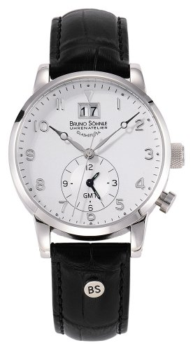 Bruno Söhnle Men's Quartz Watch with Milano GMT Analogue Quartz Leather 17 – 13043 – 221