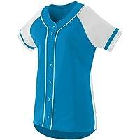 Augusta Sportswear Girls' Winner Softball Jersey S Power Blue/White