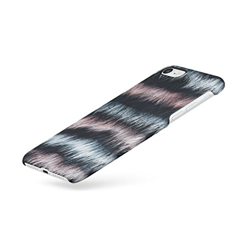 Zebra Fur Pattern Apple iPhone 7 PLUS Snap-On Hard Plastic Protective Shell Case Cover Custodia Layered Fur