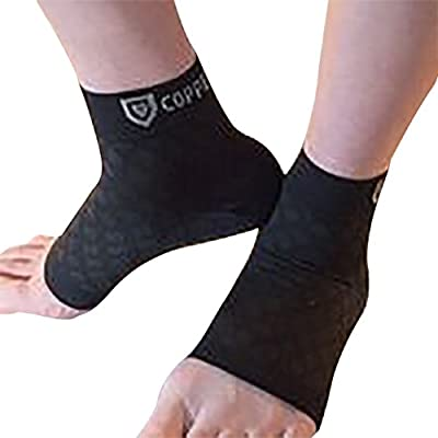Copper Shield Plantar Fasciitis Copper Lined Ankle Socks and Sleeves,Extra Protection and Healing For Men/Women, Compression Support For Foot,Heel,Ankle,Arch, circulation + more - cheap UK light shop.