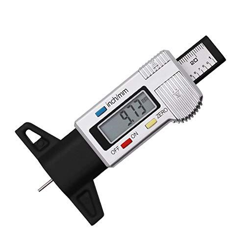 LNIMIKIY medidor Digital de Profundidad de neumáticos, medidor Digital LCD de 0 a 25 mm,...