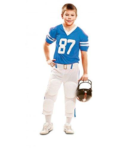 Partychimp 83-02109 - Rugby Spieler, Kinderkostüm, 7-9 Jahre, blau (Rugby 122)