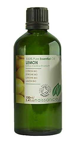 Naissance Huile Essentielle de Citron Pressée à Froid Certifiée BIO 100% pure - 100ml