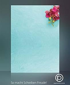 Orchideen, 40-tlg. Komplett-Set:20 Blatt Motivpapier + 20 Umschläge DIN LANG