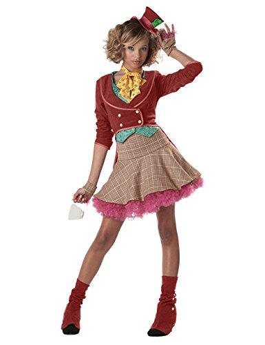 Generique - Retro Clowns-Kostüm für Teenager 152 (10-12 (Mad Hatter Teen Kostüm)