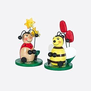 Amsinck & Sell Bee/Ladybird Sitting 9cm Sort.