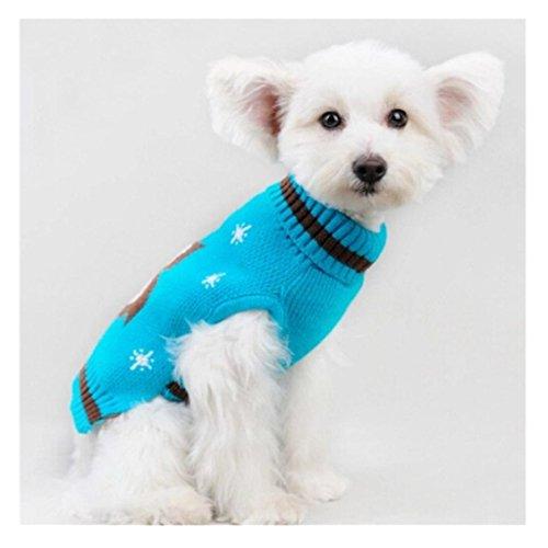 Haustiere Kleidung, Transer® Pets Winter Warm Shirts Weihnachten Hunde Kleidung Lovely Mäntel und Jacken mit Eule Strick Pullover Apparel für Kleid bis Puppy Kostüme