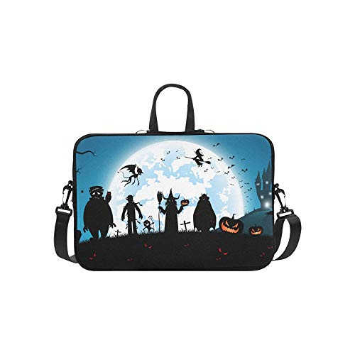 it vielen Geist-Muster-Aktenkoffer-Laptoptasche Kurier-Schulter-Arbeitstasche Crossbody-Handtasche für das Geschäftsreisen ()