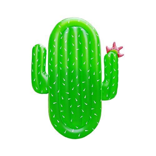 Boby cactus gonfiabile gigante gonfiabile piscina galleggiante giocattolo estate gonfiabile per adulti per festa in piscina gonfiabili cactus 177 x 123 x 16 centimetri