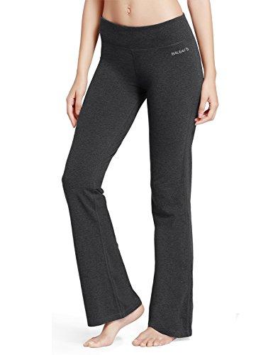 Lange Damen Hosen (Baleaf Damen Flare Joga Fitness Hose lang Grau Größe XL)