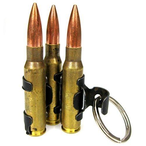 Schlüsselanhänger mit drei MG-Patronen, M60, Patronengurt -