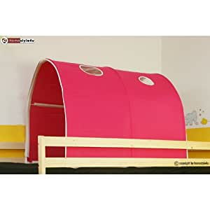 homestyle4u 556 kinder tunnel f r hochbett pink rosa baumwolle 90 cm breit k che. Black Bedroom Furniture Sets. Home Design Ideas