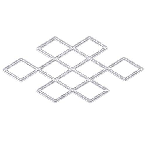Stanzformen Schablone Rhombus Muster , Rhombus DIY Scrapbooking Schneiden Vorlage, Kohlenstoffstahl Dekorieren Schneidebrett Schablone für Handarbeiten Sammelalbum Prägepapier Karte