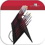 12 Künstlerpinsel Katzenzungen Spitzpinsel Flachpinsel incl. aufstellbarer Pinseltasche Pinselset für