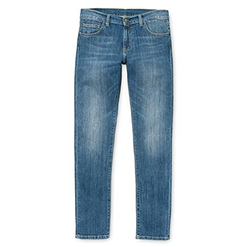 Carhartt rebel pantalon-homme-bleu délavé-station d'accueil Bleu - Bleu