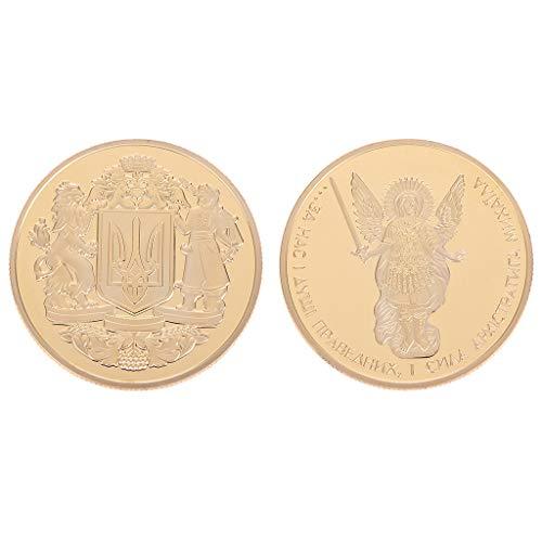 AIYIYOO Moneda Conmemorativa Emblema Nacional ucraniano...