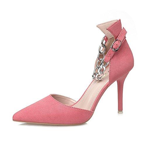 Flyrcx Simple Bout De Métal De Mode Sexy Beau Talon Chaussures Lady Glamour Parti Chaussures Taille Européenne: 34-39d