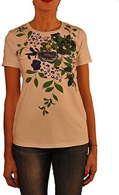 Hope1967 - T-Shirt de Mujer Trianon con estampado floral y detalles en bordados , manga corta