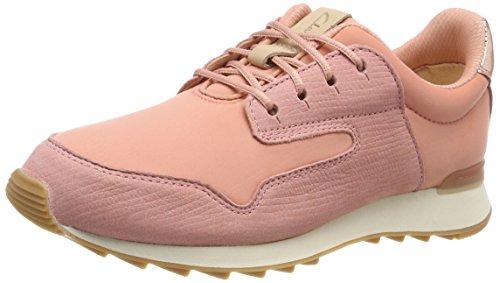 Clarks Women's Floura Mix Low-Top Sneakers, Pink (Pink Combi), 8 UK