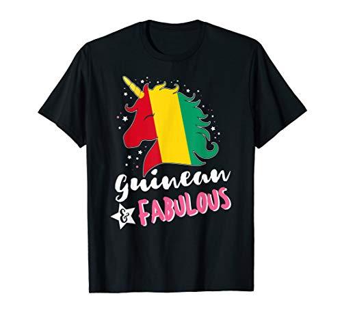 Guinean Unicorn Guinea Flag T-Shirt -