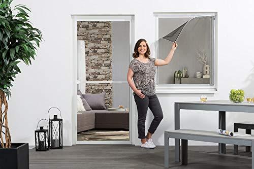 Fliegengitter Fenster Insektenschutz 'EASY', Magnet - 130 x 150 cm - weiß