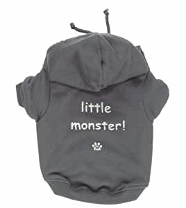K9 little Monster Hoodie For Dogs, Grey, Large