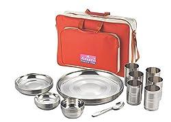 Aristo Stainless Steel Khubsurat Dinner Set with bag - 36 Pcs