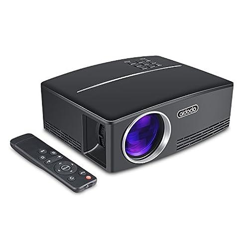 Vidéoprojecteur, TOQIBO HD 1080P 1800 Lumens Led Mini LCD Projecteur de Cinéma Privé, Projecteur Portable avec Support HDMI / VGA / AV / 2 Port USB PC Ordinateur Xbox TV, idéal pour le Jeu Vidéo, pour une Nuit de Cinéma ou pour Vos Partage de Vidéo Familiale