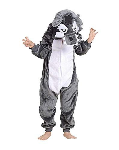 Abyed tutina unisex onesies pigiama pigiameria sleepwear nightclothes cosplay costume animale felpato di carnevale- ragazzo bambina e bambino
