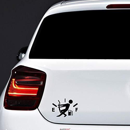 Autodomy Confezione Adesivi Lancetta Carburante Rifornimento Auto Diesel Benzina 2 Pezzi per Auto (Nero)