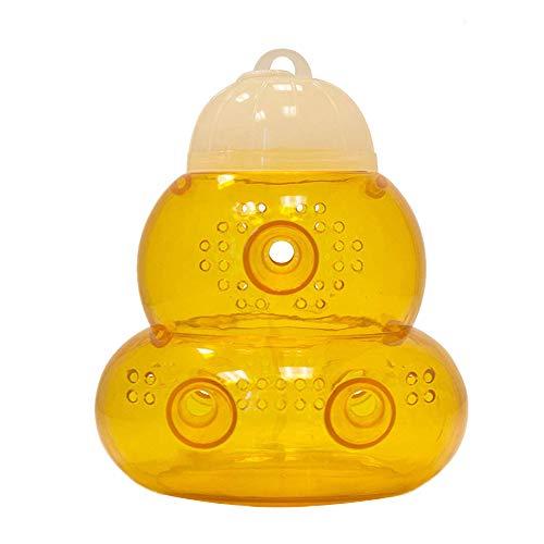 Características: Categoría: recogedor de residuos. Color: amarillo. Material: plástico. Tamaño del artículo: aproximadamente 7,8 x 7,8 x 15,5 cm. Extremadamente eficaz. Diseñado con túneles de doble entrada, el exterior es más grande que el interior ...