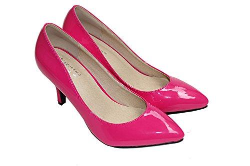 CFP , Sandales Compensées femme Rose/rouge