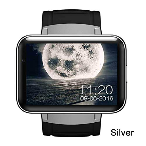 JingJingQi Fitness-TrackerDM98 GPS Smart Watch 2,2 Zoll Bildschirm MTK6572 900mAh Batterie Android OS 3G WCDMA WiFi Sport Tracker Smartwatch, Silber