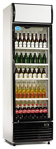 Flaschenkühlschrank mit Glastür 430 Liter Getränkekühlschrank Barkühlschrank Gewerbe Gastronomie