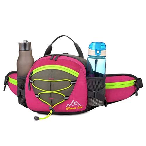 XL- Hydration Running Belt with Bottles - Gürteltasche für Damen & Herren - für iPhone für Jede Größe, Wandern, Joggingbeutel, Hüfttasche (Farbe : Pink)