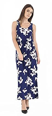 Women's Ladies Printed Toga Balloon Bubble Racer Twist Back Maxi Dress