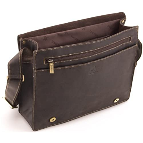 Visconti Hunter Distressed Oiled Leather A4 Work Messenger Bag # 18548 -  Oiled Brown