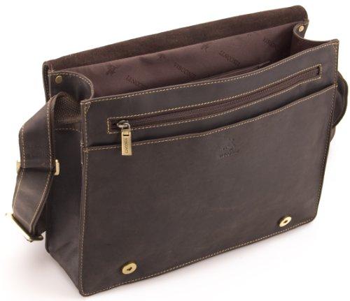 Visconti Hunter - Messenger Bag - A4 Laptop-Tasche - Arbeitstasche - geöltes Antik-Leder - # 18548 Schlamm