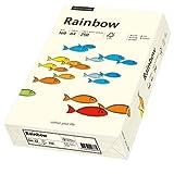 Rainbow Pastell - A4, 160g/qm, hellchamois, 250 Blatt Premiumpapier mit exzellenter Laufeigenschaft, hoher Alterungsbeständigkeit und Farbechtheit sowie Spielzeugeignung. Für Laser-, Inkjetdrucker, Kopierer, Faxgeräte, Preprint oder Druck geeignet.