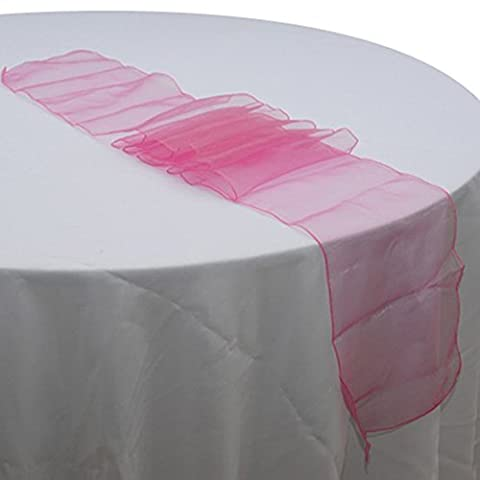 LanLan Premium Quality Sheer Organza Table Runner for Wedding and