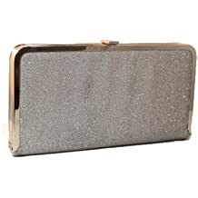 Allure Christmas Party Clutch Bag Collection - Adrianna Sparkle Detail Clutch in Silver