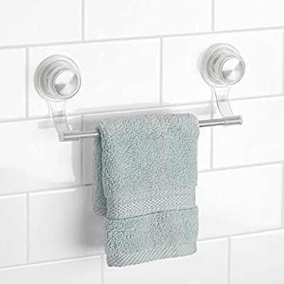 InterDesign Small Power Lock Ultra Wash Cloth Bar, Clear/Silver - cheap UK bar stool store.