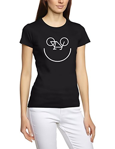 BIKE FACE FAHRRAD GESICHT T-Shirt Damen Black Gr.S